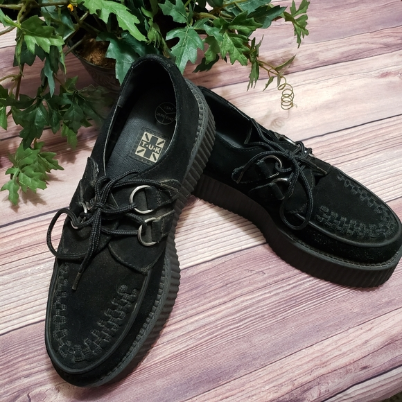 T.U.K Shoes - T.U.K. Black Suede Viva Mondo Creepers